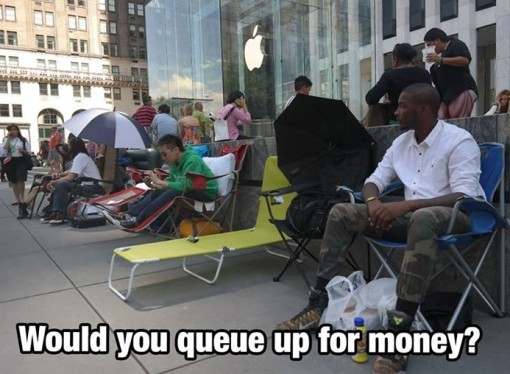 Queue for an iPhone
