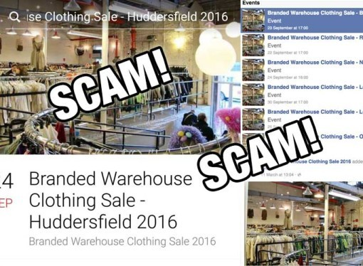 New Scam: Branded Warehouse Clothing Sale