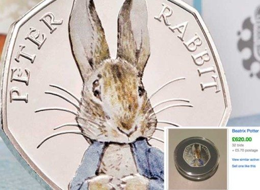 Beatrix Potter 50p coins selling for £670 on eBay. Have you got one (or one of the other coins)?